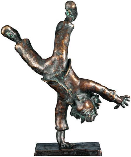 """Gisela von Wittich: Sculpture """"Somersault"""", bronze"""