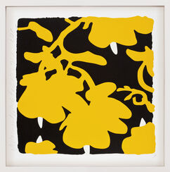 "Bild ""Lantern flowers - Yellow and Black"" (2017)"