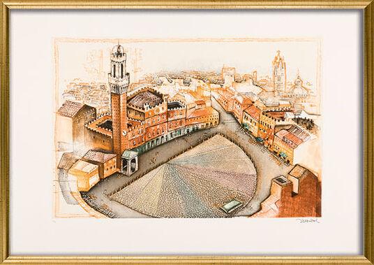 """Simon Dittrich: Bild """"Siena"""" (2000), gerahmt"""