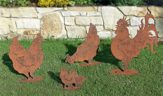 "Garden figures ""Chicken Family"""