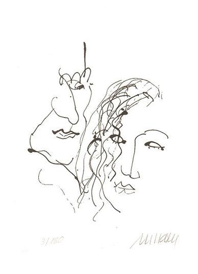 """Armin Mueller-Stahl: Bild """"Orpheus und Eurydike"""" (2015) - inkl. Buch, ungerahmt"""