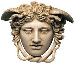 """Relief """"Haupt der Medusa"""" (Originalgröße), Kunstmarmor"""