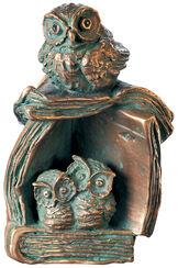 """Skulptur """"Literarische Kinderstube"""", Bronze"""