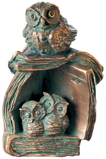 """Rainer Hercks: Skulptur """"Literarische Kinderstube"""", Bronze"""