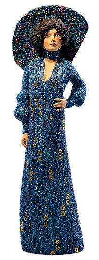 "Ed van Rosmalen: Sculpture ""Emilie Floge"" - by Gustav Klimt"