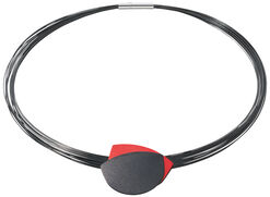 """Necklace """"Ornaments"""", Version Black/Red"""