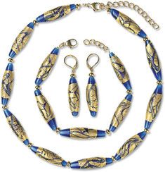 """Jewelry Set """"Gold River"""""""