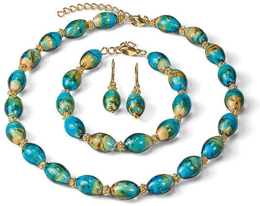 "Petra Waszak: Jewelry Set ""Murano"""