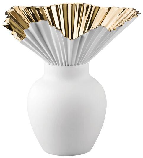"""Sebastian Herkner: Vase """"Falda 27 cm"""", Porzellan/Gold titanisiert"""