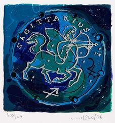 """Bild """"Sternzeichen Schütze"""" (1996), gerahmt"""