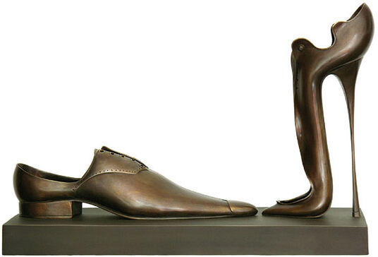 "Paul Wunderlich: Sculptural group ""A Deux"" version in bronze"