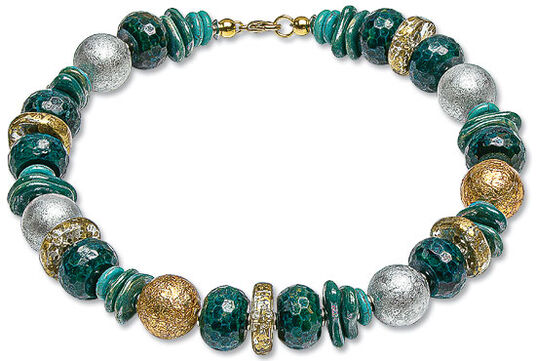 "Anna Mütz: Necklace ""Royal Green"""