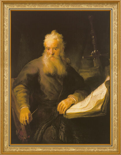 "Rembrandt: Painting ""The Apostle Paul"", 1633"