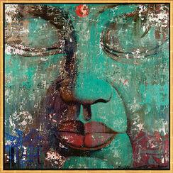 "Bild ""Bouddha turquoise"", gerahmt"