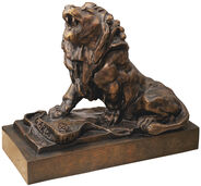 "Skulptur ""Der weinende Löwe"" (Le lion qui pleure), Version in Bronze"