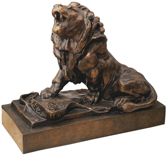"Auguste Rodin: Sculpture ""The Weeping Lion"" (Le lion qui pleure)bronze artedition"