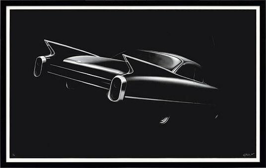 "Robert Longo: Bild ""Cadillac"" (2012)"