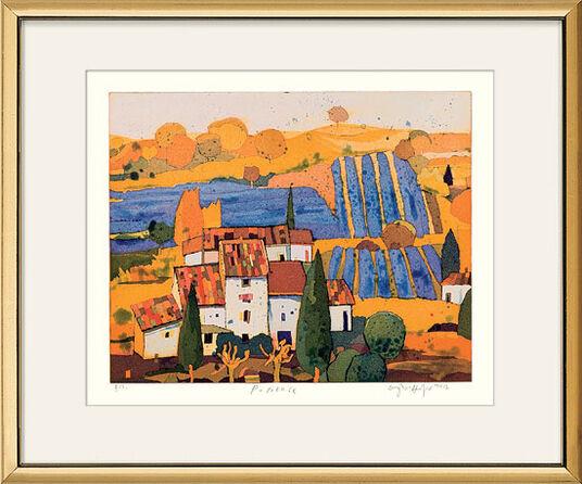 "Gerhard Hofmann: Bild ""Provence"", gerahmt"