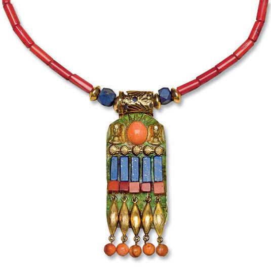 "Petra Waszak: Necklace ""Coral Pectoral"""