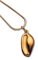 Princess Sithathor's cowry shell necklace, gold-plated 925 sterling silver