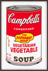 "Bild ""Warhols Sunday B. Morning - Campbell´s Soup - Vegetarian Vegetable"" (1980er Jahre)"