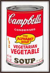 """Bild """"Warhols Sunday B. Morning - Campbell´s Soup - Vegetarian Vegetable"""" (1980er Jahre)"""