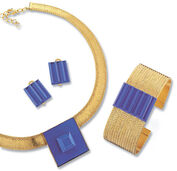 Jewelry set 'Blue Dream', 3 pieces