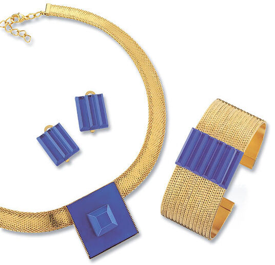 Petra Waszak: Jewelry set 'Blue Dream', 3 pieces