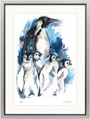 """Bild """"Pinguin"""", gerahmt"""