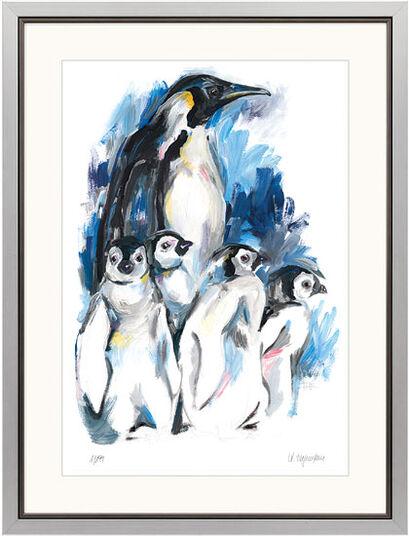 """Audrey Hagemann: Bild """"Pinguin"""", gerahmt"""