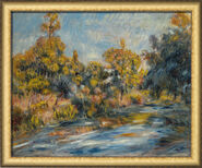 """Bild """"Landschaft am Fluss"""", gerahmt"""