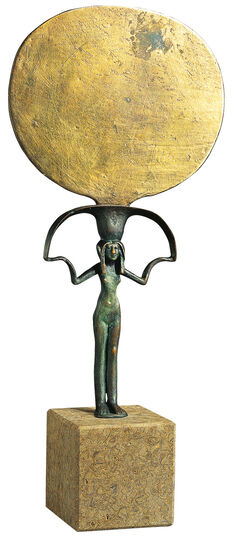 Egyptian hand mirror