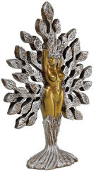 """Sculpture """"Tree of Life"""", silver marble casting edition"""