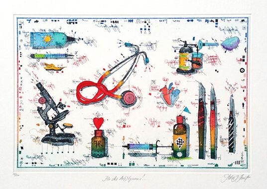 """Leslie G. Hunt: Bild """"Für die Arztpraxis II"""" (1997), ungerahmt"""