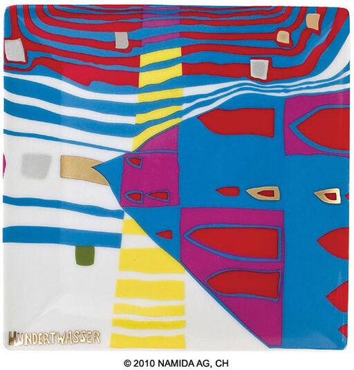 "Friedensreich Hundertwasser: Bowl ""Detail of Infinity"" (15 x 15 cm, white)"