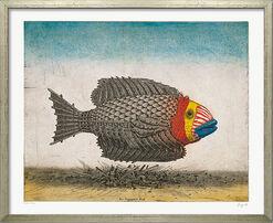 """Bild """"Der trojanische Fisch"""", gerahmt"""