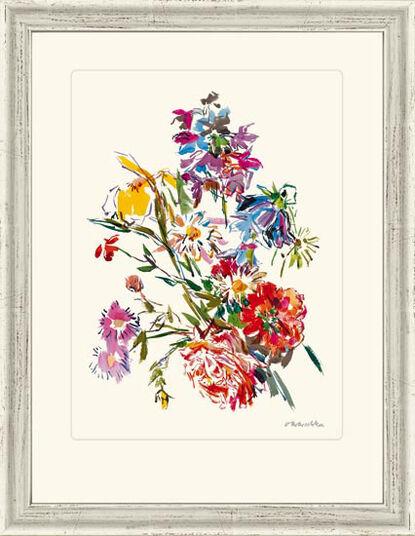 """Oskar Kokoschka: """"Summer Flowers with Iris and Whitsun Flower"""", 1971"""