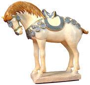 """Skulptur """"Tang-Pferd"""", Kunstguss"""