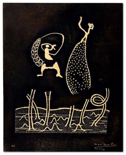 "Max Ernst: ""Bronze relief IX"""