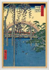 """Bild """"Kameido Tenjin Schrein"""" (1856-1858), gerahmt"""