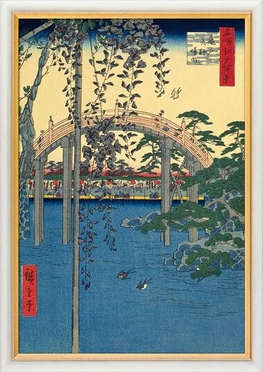 "Ando Hiroshige: Bild ""Kameido Tenjin Schrein"" (1856-1858), gerahmt"