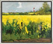"""Bild """"Rapsfeld I (Gelb leuchtet bei Nieby)"""" (2009), gerahmt"""