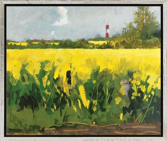 """Frank Suplie: Bild """"Rapsfeld I (Gelb leuchtet bei Nieby)"""" (2009), gerahmt"""