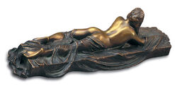 """Sculpture """"Lying Nude with Scarf I"""", bronze"""