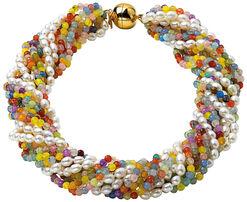 """Perlencollier """"Color & Pearl"""""""