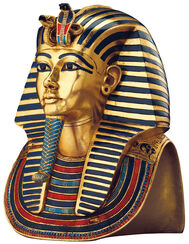 "Bust "" Tutankhamun's Gold Mask"" (Reduction)"