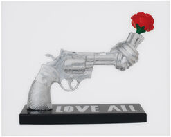 "Jonas Akerlund: Bild Knotted Gun ""Love All"""