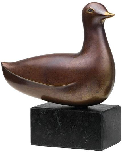 "Falko Hamm: Skulptur ""Junge Ente"", Bronze"