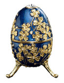 "Musical jewelry egg ""Amazing Grace"" (blue)"