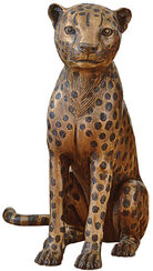 "Sculpture ""Cheetah Sitting"", Bronze"